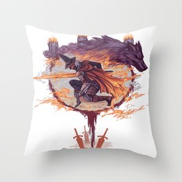 Abysswatchers Throw Pillow