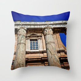 The Temple of Antonius & Faustina Throw Pillow