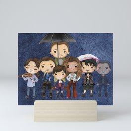 Umbrella Family Mini Art Print