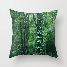 A Tree Grows in the Woods Throw Pillow