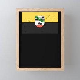 Saxony Anhalt flag coat of arms flag logo gift Framed Mini Art Print