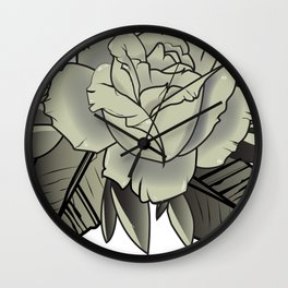 Tattoo Rose Wall Clock