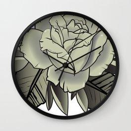 Tattoo Rose Wall Clock