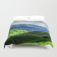 mountain Duvet Covers featuring Mountain by David Zydd
