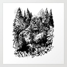 PACIFIC NORTHWEST SASQUATCH Art Print