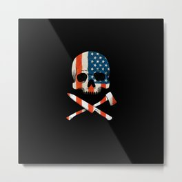 American P$ycho Metal Print