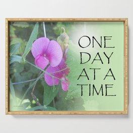 One Day at a Time Sweet Peas Serving Tray