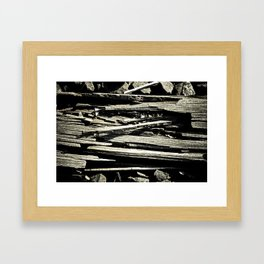 Old railroad tie Framed Art Print