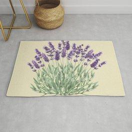 Vintage botanical print - Lavender Rug
