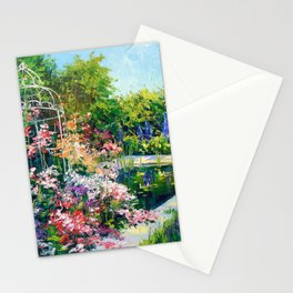 Pond in flowers Stationery Cards