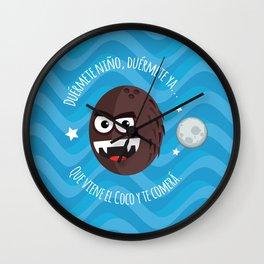 El Coco illustration Wall Clock