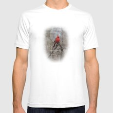 The Cardinal  White MEDIUM Mens Fitted Tee
