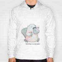 platypus Hoodies featuring Platypus by Daynasdoodleydoos