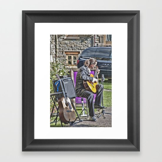 While My Guitar Gently Weeps 2 Framed Art Print