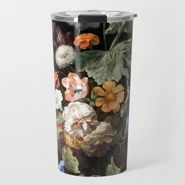 Still Life Flower Painting by Rachel Ruysch Travel Mug