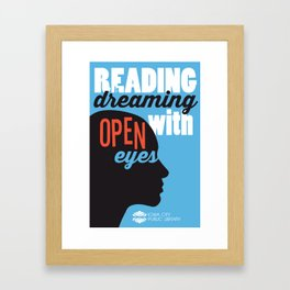 Open Eyes - Iowa City Public Library Framed Art Print