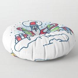 Santa obeys the Moon Floor Pillow