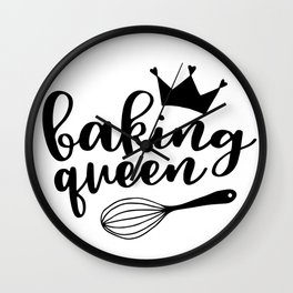 Baking Queen Wall Clock