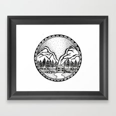 Over the River and Through the Woods Framed Art Print