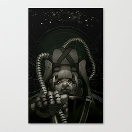 Sky Masters - It's Cold and Lonely in Space (Version 3 With Red and No Text) Canvas Print
