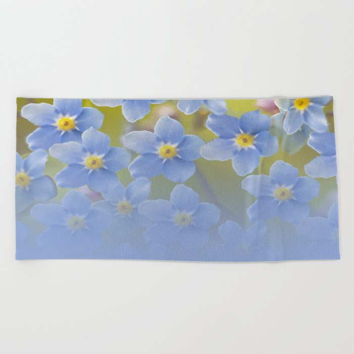 Forget-me-not flowers - summer beauty #society6 #buyart Beach Towel