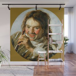 "Frans Hals ""Boy holding a Flute (Hearing)"" Wall Mural"