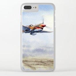 P-40 Warhawk Aircraft Clear iPhone Case
