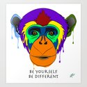 Be yourself, be different - chimpanzee by fabriziorossin