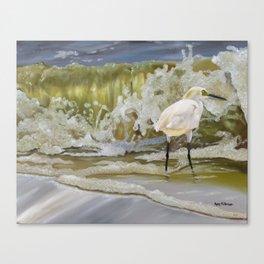 Sparkling Snowy Egret Canvas Print