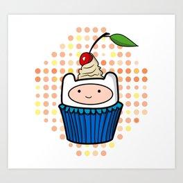 Finn the Cupcake Art Print