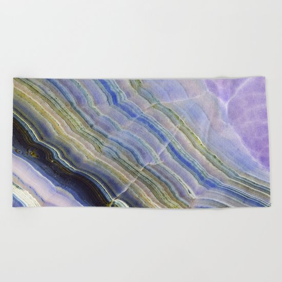Pastel Onyx Marble II Beach Towel