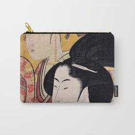 Kitagawa Utamaro - Top Quality Art - Bamboo blind Carry-All Pouch