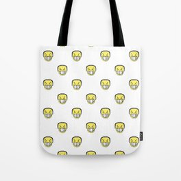 Angry Emoji Graphic Pattern Tote Bag