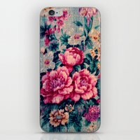 vintage floral iPhone & iPod Skins featuring Vintage Floral  by CLE.ArT.