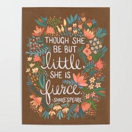 Little & Fierce on Kraft Poster