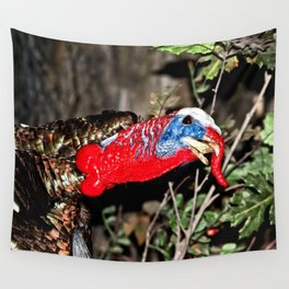 Wild Turkey Close Up Wall Tapestry