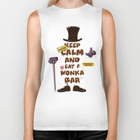 willy wonka Biker Tanks featuring Wonka Bar by le.duc