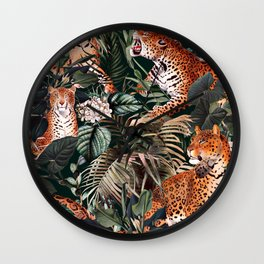 Dangers in the Forest XIII Wall Clock
