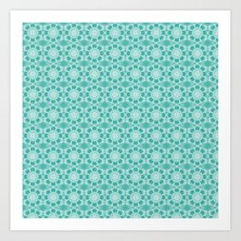 Project 503  |  White Lace on Teal Green Art Print