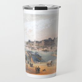 Paris art print Paris Decor office decoration vintage decor LAC BOIS BOULOGNE of Paris Travel Mug