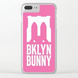 Brooklyn Bunny Logo (Pink) Clear iPhone Case