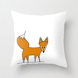 Mr. Fox II Throw Pillow