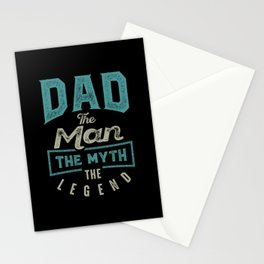 Dad The Myth The Legend Stationery Cards
