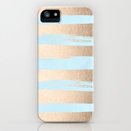 Paint Stripes Gold Tropical Ocean Sea Turquoise iPhone Case
