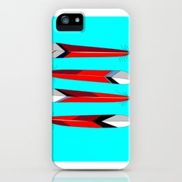 Horizontal Desert Feathers, Southwestern Design iPhone Case