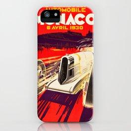 Monaco Grand Prix 1930 - Vintage Poster iPhone Case