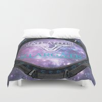 stargate Duvet Covers featuring Pegasus gate by Samy
