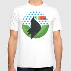 Tucan MEDIUM White Mens Fitted Tee