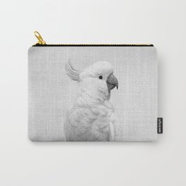 White Cockatoo - Black & White Carry-All Pouch