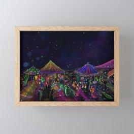 Magical Night Market Framed Mini Art Print